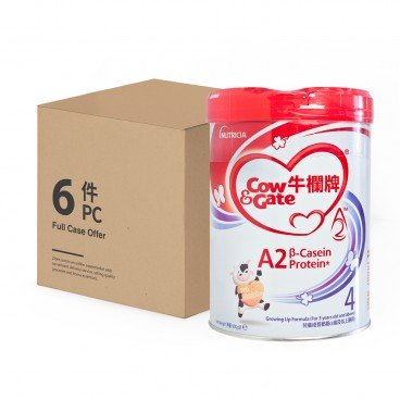 COW & GATE - A 2 Β Casein Protein Growing Up Formula 4 Case - 900GX6