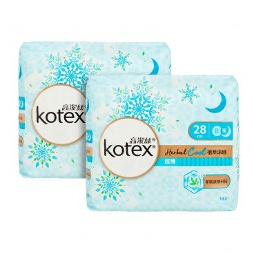 KOTEX Herbal Cool Uw Nw 28 cm Bundle 13'SX2