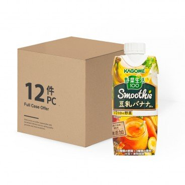 KAGOME - Soymilk Banana Mixed Smoothie Case - 330MLX12