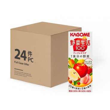 KAGOME Apple Mixed Juice Case 200MLX24