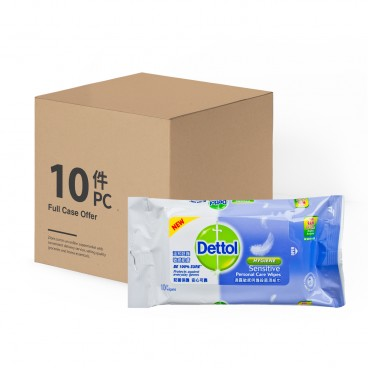DETTOL Sensitive Anti Bacterial Wet Wipes 10'SX10