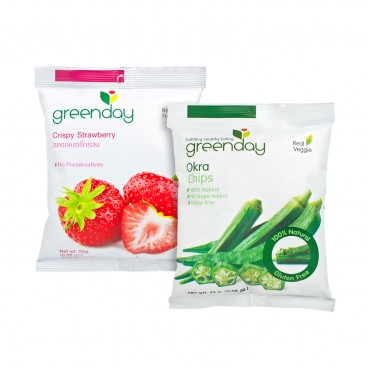 GREENDAY Set okra Chips Crispy Strawberry SET