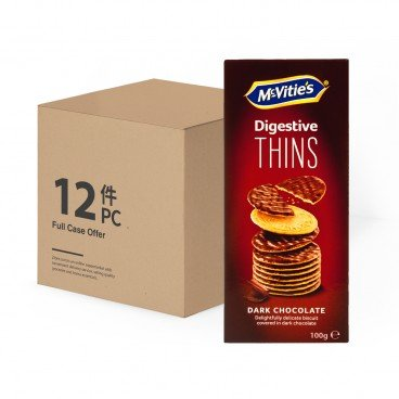 MCVITIE'S Case Offer thins Dark Chocolate 100GX12