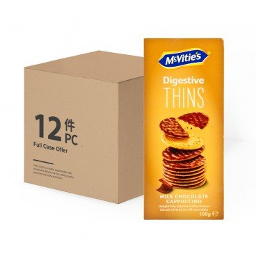 MCVITIE'S Case Offer thins Milk Chocolate Cappuccino 100GX12