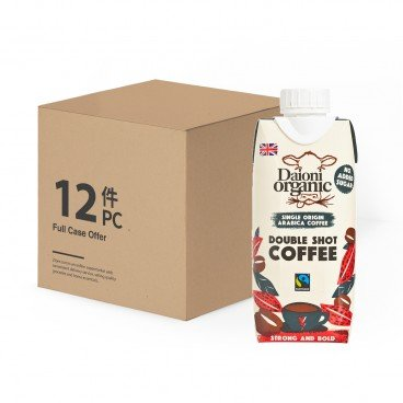 DAIONI ORGANIC - Organic Double Shot Coffee case - 330MLX12
