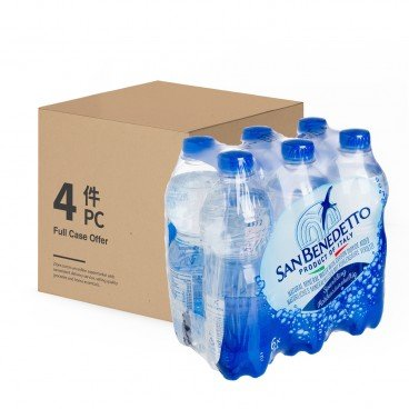 SAN BENEDETTO - Sparkling Mineral Water - 500MLX6X4