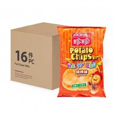 JACK'N JILL - Potato Chips bbq Flavour case Offer - 140GX16