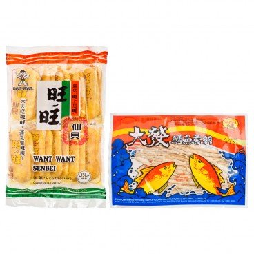 ZTORE SPECIAL - Set fish Snack Senbei Rice Creacker - SET