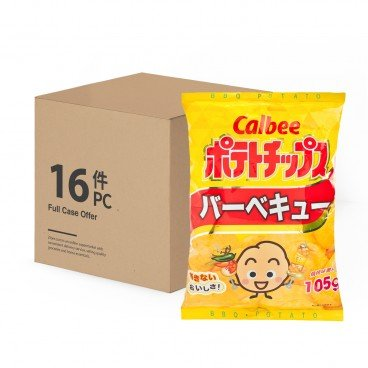 CALBEE - Potato Chips bbq Flavour case - 105GX16