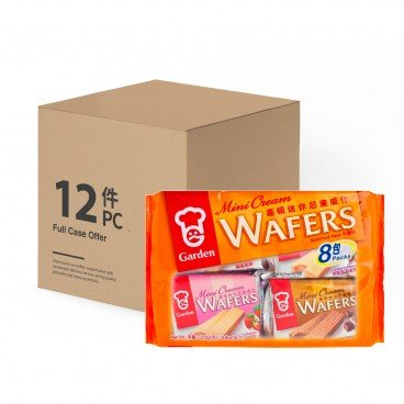 GARDEN - Mini Cream Wafers assorted Pack case - 272GX12