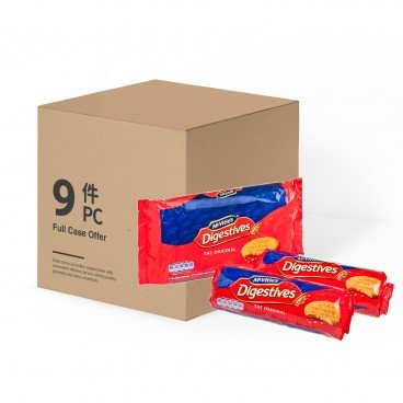 MCVITIE'S - Digestive Biscuits Twin Pack case - 400GX2X9