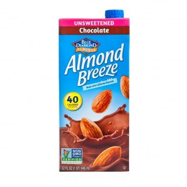 BLUE DIAMOND - Almond Breeze Unsweetened chocolate - 946ML