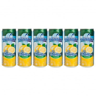 SAN BENEDETTO - Lemon Carbonated Drink - 330MLX6
