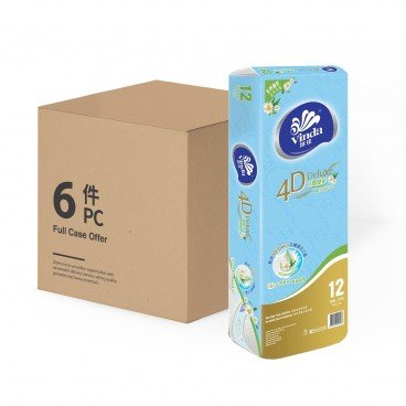 VINDA - 4 d Deluxe Botanical Care Bathroom Tissue Full Case - 12'SX6