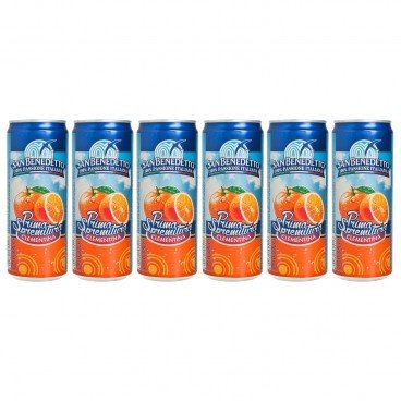 SAN BENEDETTO - Clementine Carbonated Drink - 330MLX6