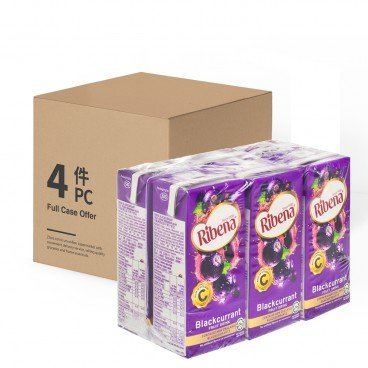 RIBENA - Blackcurrant Fruit Drink case - 200MLX6X4