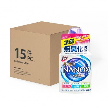 LION - Parallel Imported Top Super Nanox Antibacterial And Deodorizing Laundry Liquid case - 400GX15