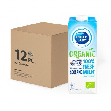 DUTCH LADY - Organic Pure Milk case - 1LX12