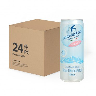 SAN BENEDETTO - Natural Mineral Water can case - 330MLX24