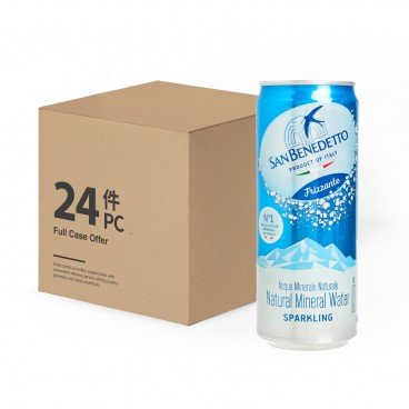 SAN BENEDETTO - Natural Mineral Sparkling Water can case - 330MLX24