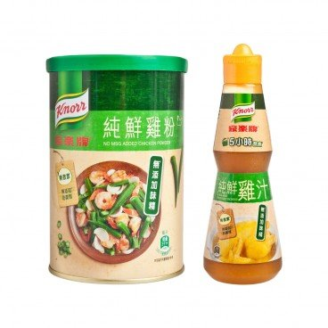 KNORR - No Msg Added Chicken Powder chicken Liquid Concentrate - 273G+240G