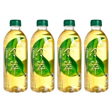 REAL LEAF - Cold Brew Japanese Style Deep steamed Green Tea no Sugar - 450MLX4