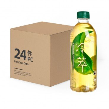 REAL LEAF - Cold Brew Japanese Style Deep steamed Green Tea no Sugar case - 450MLX24