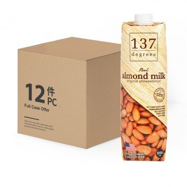 137 DEGREES - Almond Mil unsweetened case Offer - 1LX12