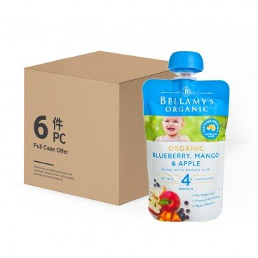 BELLAMY'S ORGANIC - Organic Blueberry mango Apple Case - 120GX6