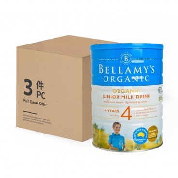 BELLAMY'S ORGANIC - Organic Step 4 Junior Milk Drink Case - 900GX3