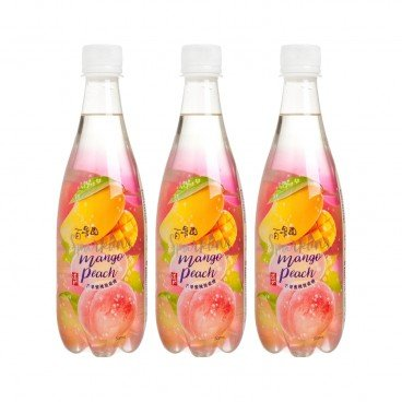 TAO TI - Mango Peach Carbonated Juice Drink - 500MLX3