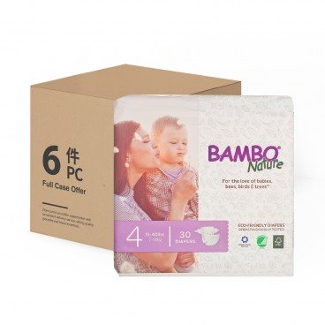 BAMBO NATURE - Rash Free Eco Baby Diapers M 7 18 Kg Case - 30'SX6