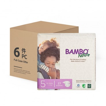 BAMBO NATURE - Rash Free Eco Baby Diapers L 11 25 Kg Case - 27'SX6