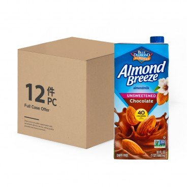 BLUE DIAMOND(PARALLEL IMPORT) - Almond Breeze Unsweetened chocolate case Offer - 946MLX12