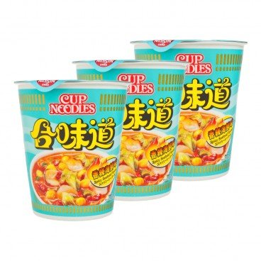 NISSIN - Cup Noodle spicy Seafood - 75GX3