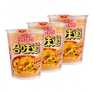 NISSIN - Cup Noodle shrimp And Miso Flavour - 75GX3