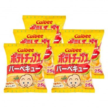 CALBEE - Potato Chips bbq Flavour - 25G X5