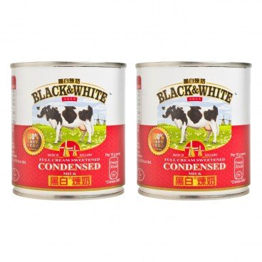 BLACK & WHITE - Sweetened Condensed Milk - 397GX2