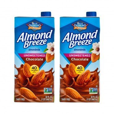 BLUE DIAMOND(PARALLEL IMPORT) - Almond Breeze Unsweetened chocolate - 946MLX2