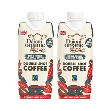 DAIONI ORGANIC - Organic Double Shot Coffee - 330MLX2