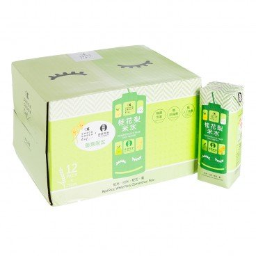 CHECKCHECKCIN - Osmanthus Pear Rice Water Paper Pack case - 250MLX12