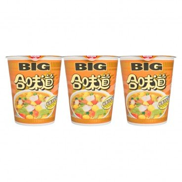 NISSIN - Big Cup Noodle seafood Curry - 101GX3