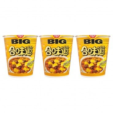 NISSIN - Big Cup Noodle cheese Curry Flavor - 113GX3