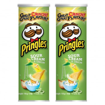 PRINGLES - Potato Crisp sour Cream Onion Flavour - 110GX2