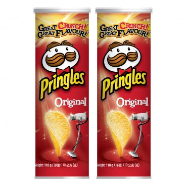 PRINGLES - Potato Chips original Flavour - 110GX2