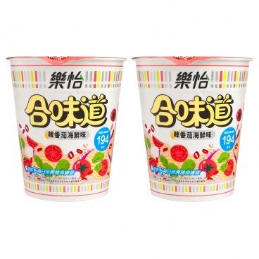NISSIN - Cup Noodle Light spicy Tomato Seafood Flavor - 68GX2