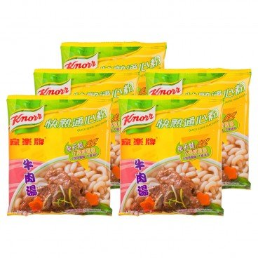 KNORR - Quick Serve Macaroni beef Broth - 80GX5