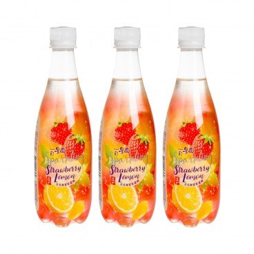 TAO TI - Strawberry Lemon Juice Carbonated Drink - 500MLX3