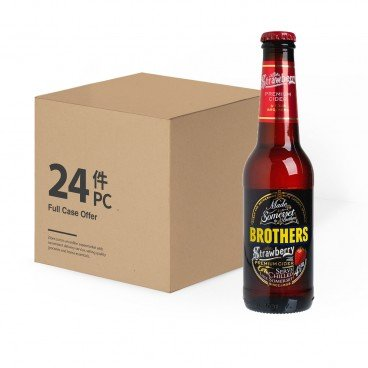 BROTHERS - Cider Strawberry case - 275ML X24
