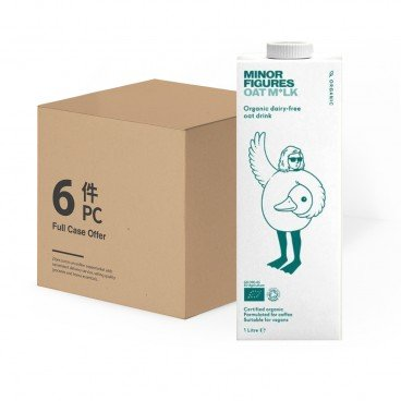 MINOR FIGURES - Organic Oat Milk case Offer - 1LX6